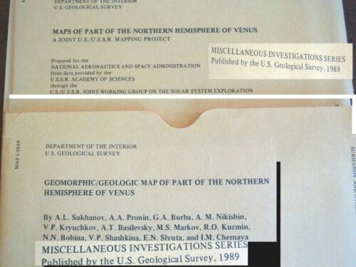 VENUS Set 2 Geologic Geomorphic Maps  USSR USGS NASA Excellent