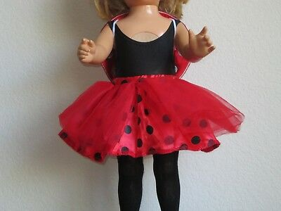 CUTE! Halloween LADYBUG COSTUME: Wings & Poseable Antennae!! fits American Girl