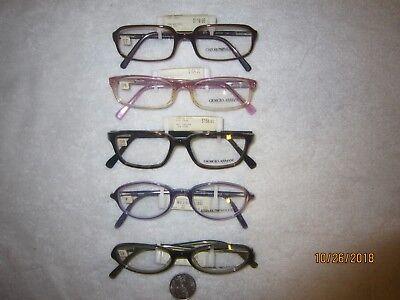 5 EMPORIO GIORGIO ARMANI Eyeglass Frames STORE DISPLAYS lenses ready PRICE (Eyeglasses Lenses Price)
