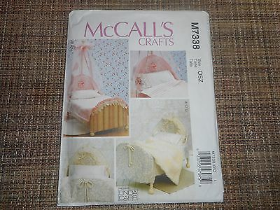 "McCalls crafts sewing pattern M7338 18"" doll beds"