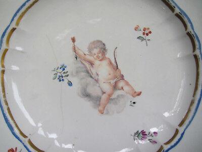 Rarität: FRANKENTHAL, CT-Marke, Teller mit Puttendekor, 1780-90