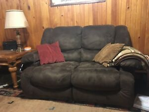 Brown reclining couch *two for the price of 1*