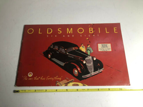 1936 Oldsmobile Six and Eight Deluxe Sales Brochure 40 Pages Original