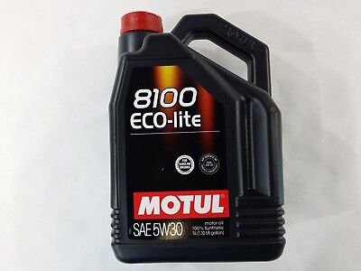 108214 Motul 8100 ECO-lite 5W30 100% Synthetic Performance Engine Oil (5 Liter), usado comprar usado  Enviando para Brazil