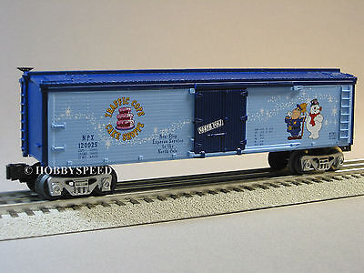 LIONEL FROSTY THE SNOWMAN REEFER o gauge train christmas holiday santa 6-81284 R