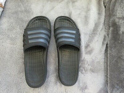 Genuine ADIDAS Sliders Charcoal worn twice excellent condition size 13