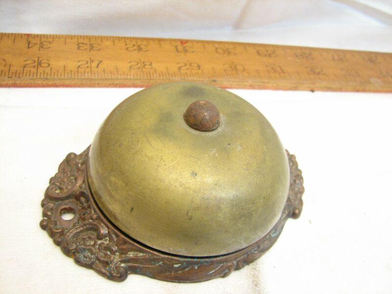 Antique Cast Iron Door Bell Ringer Mechanical Architectural Victorian Hardware