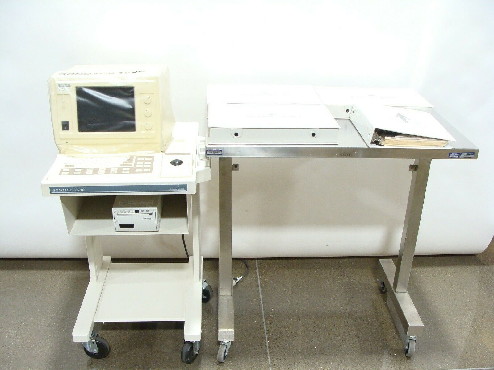 Best USED MEDISON SA-1500 SONOACE PORTABLE ABDOMINAL ULTRASOUND MACHINE + 3 PROBES, MANUAL