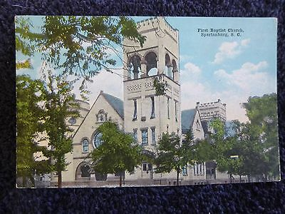 1924 The First Baptist Church in Spartanburg, SC South Carolina PC