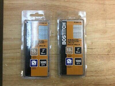 2000 Count Bostich Bt1350-1m 2 18-gauge Brad Nails 2 Boxes 1000 Each