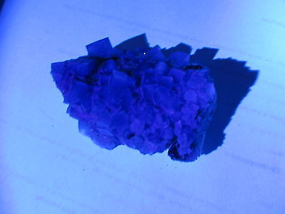 Left: Rogerly Mine England Fluorite. Right: Calcite from New Jersey USA