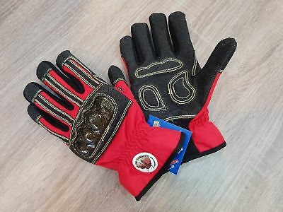 Red Safety Gloves Rescue Schmitz Mittz Rescue-x Extrication Waterproof Sz. M-2xl