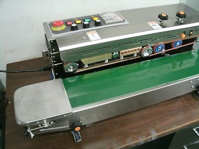 Left To Right Feed Frd-1000 Stainless Steel Continuous Band Vertical Bag Sealer