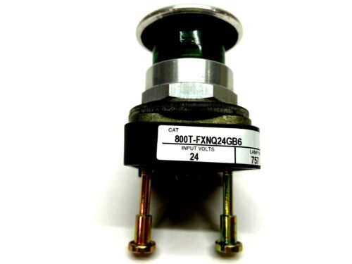 Allen Bradley 800T-FXNQ24GB6 Push Button 3-Position Push-Pull Illuminated Green