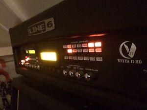 Line 6 Vetta 2 half stack w/ pedal board