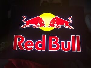 1.5 x 2.25 ft Illuminated Red Bull Sign