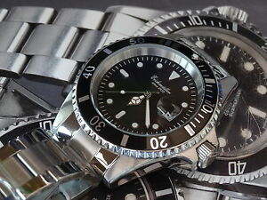 mens diving watches quality dive watch submariner 42mm 200 meters by german brand eichmuller