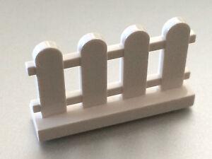 NEW-100-Pieces-Lego-WHITE-PICKET-Fence-Train-Castle-1x4x2-BULK
