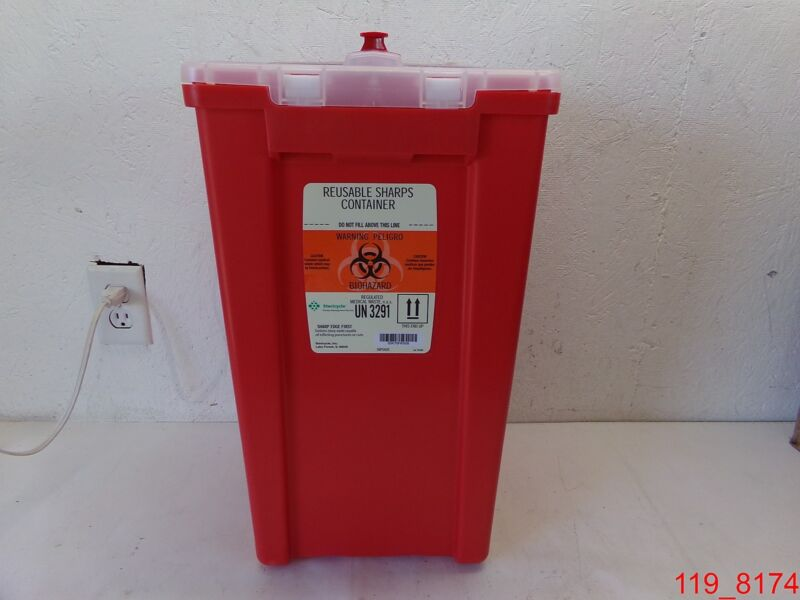 Qty=2 Stericycle Reusable Sharps Container UN 3291 50 lbs