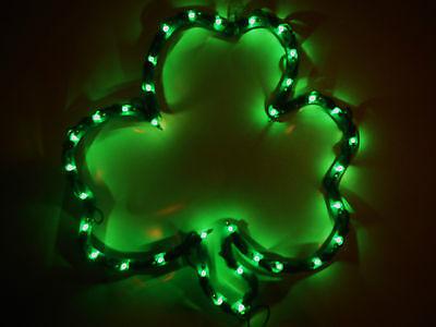 ST PATRICKS DAY LIGHTED SHAMROCK SCULPTURE..HOME OR IRISH PUB DECOR..