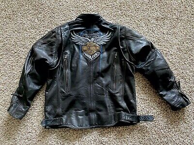 Men's XL Harley Davidson 115th Anniversary Leather Jacket Buffalo Hide