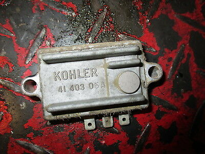 JOHN DEERE KOHLER ENGINE VOLTAGE REGULATOR 10 - 20hp AM106357 ($74.89 from JD)