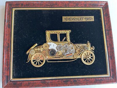 Artisans Artwork/Pictures Handmade from ANTIQUE WATCHES PARTS - CHEVY 1915 !!!