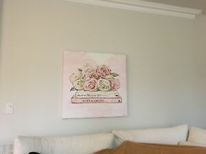 gorgeous pink rose painting