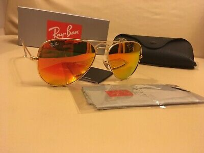 RAY BAN 3025 112 69 AVIATOR RB rote Farbe vorne