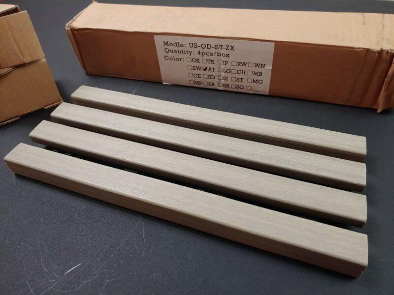 """US-QD-ST-ZX Ultrashield Naturale Composite Deck Tile Straight Ends 12"""" long appr"""