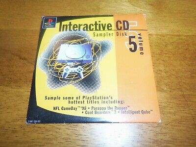 Sony Playstation 1 PS1 Interactive CD Volume 5 Sampler Demo Disc