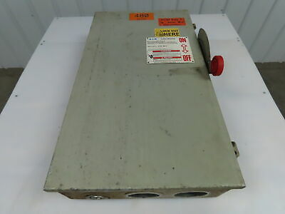 Cutler Hammer Dh364ngk 200 Amp Disconnect 600 Volt 3p 4w Fusible