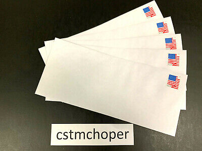 """400 Authentic Forever Stamp Envelopes (White #10 Security Tinted """"Peel N Seal"""")"""