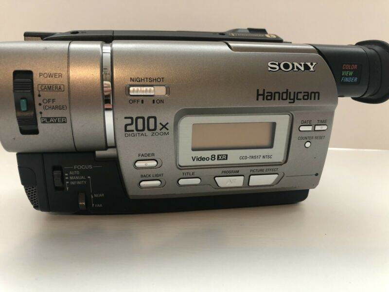 SONY CCD-TR517 NTSC VIDEO 8 XR 200X Night Shot w/ battery. No charger or cords.