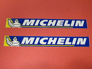Two Michelin Tire Racing Team Sponsor Logo Decals Stickers