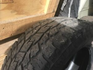 "Toyo Tires.  33.9"" for 20"" Rims"