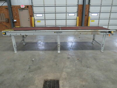 Tunkers Mastech Motorized Powered Flat Straight Belt Conveyor 36x 38x 15 Ft