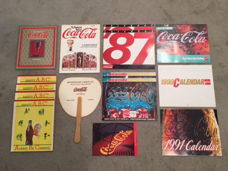 Huge Lot Of Coca Cola Calendars Brochures ABC Note Pads