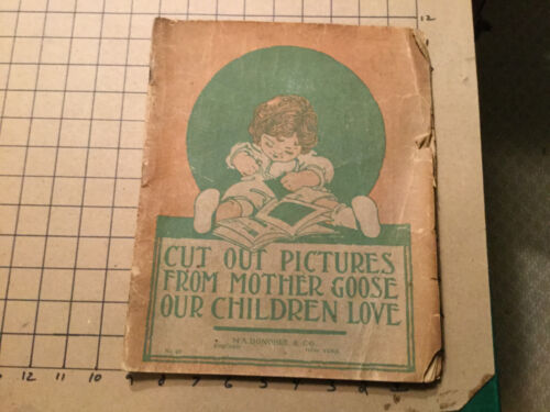 original vintage CUT OUT PICTURES from MOTHER GOOSE - m a donohue - poor unused