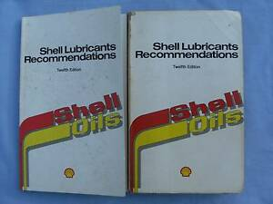 Shell Oils Lubricants Recommendations x 2 both 12th. Edition 1987 South Grafton Clarence Valley Preview