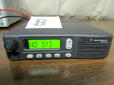 B - Motorola Mcs 2000 Mobile Radio 800mhz Uhf 250 Channels M01hx812w As-is