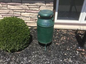 Large Milk Churn with Cast Iron Stand