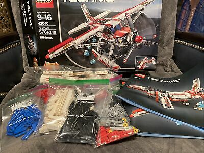 LEGO Technic 42040 Fire Plane Jet. Perfect Condition.100% complete with manuals!