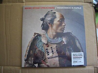 MANIC STREET PREACHERS - RESISTANCE IS FUTILE - WHITE VINYL LP + CD - NEW / SEAL