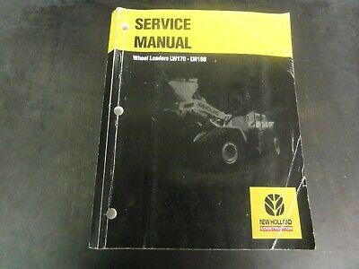 New Holland Lw170 Lw190 Wheel Loaders Service Manual