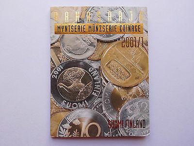 """Finnland, Kursmünzensatz Jahrg. 2001/1 """"Markka-Medaille !"""" St/ ovp   #MA048"""