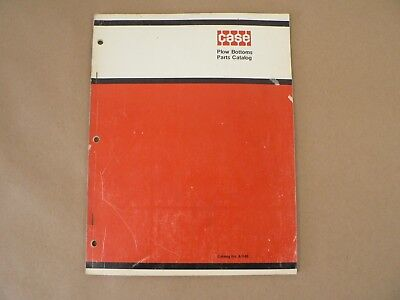 Vintage Service Parts Catalog Case International Harvester Plow Bottoms 1971