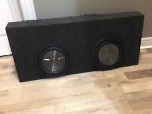 """Dual Sub - Clarion PFW1051 x2 Speakers 600w, 10"""", 4 ohm"""