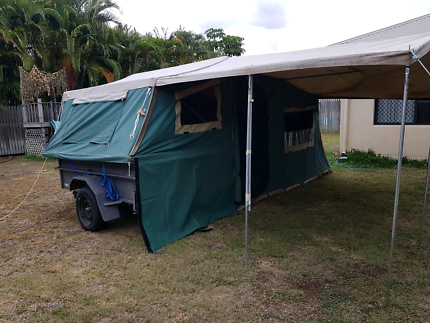 7x4 high side trailer with fold out c&er tent & 7x4 Camper Box trailer with tent top ready to go | Trailers ...