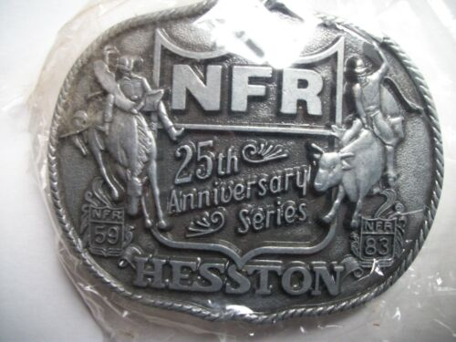1983 First Edition 25th Anniversary Hesston National Finals Rodeo Belt Buckle